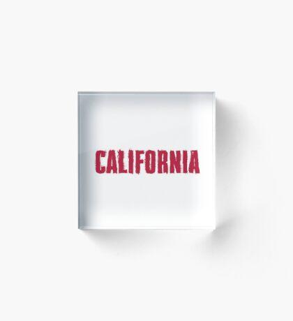 California Distressed Style Acrylic Block
