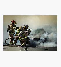 Fire Men Photographic Print