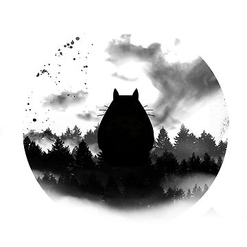 Totoro under the moon by NomadSenpai