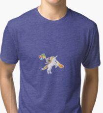 Ninja Cat Unicorn Tri-blend T-Shirt
