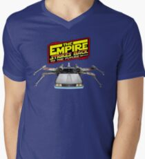 Empire Strikes Back to the Future Men's V-Neck T-Shirt