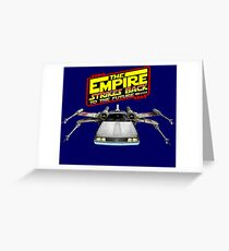 Empire Strikes Back to the Future Greeting Card