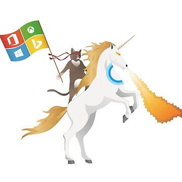Ninja Cat Unicorn Full Flag Cortana by memeshe
