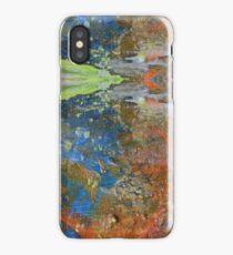 Hand-painted Blue, Yellow, Orange Unicorn Gem iPhone Case/Skin