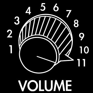Volume Knob Up To 11 Spinal Tap Inspired Funny Guitar T-Shirt For Musicians by blueversion