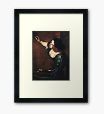 Self-portrait as the Allegory of Painting Artemisia Gentileschi Framed Print
