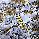 "Morning Song in Blue/Yellow by Belinda ""BillyLee"" NYE (Printmaker)"
