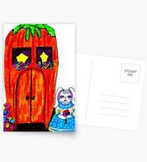 FRAU. BUNNY'S KAROTTENHAUS Postkarten