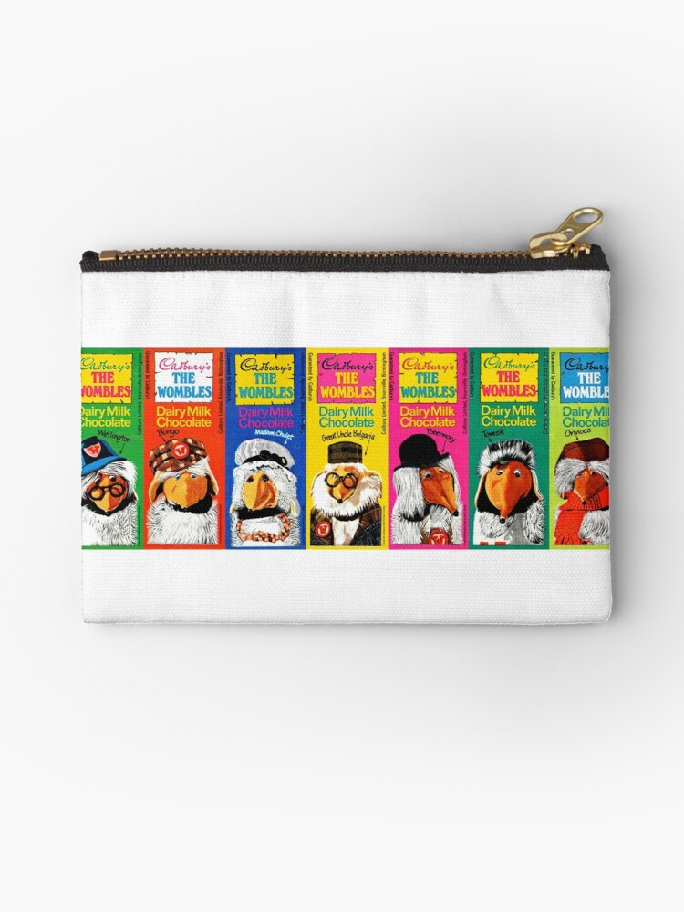 Wombles Retro Chocolate Bars Zipper Pouch By Yellowplanet