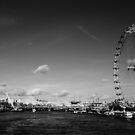 London Eye (B&W) by AmishElectricCo
