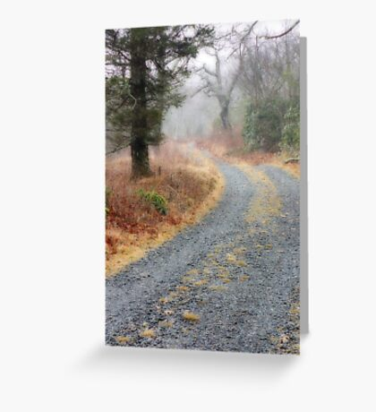 Quiet Road Greeting Card