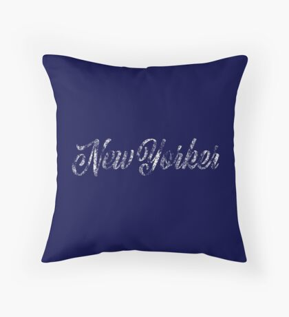 New Yorker Vintage Letter Throw Pillow