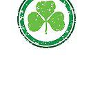 Textured Shamrock St. Patrick's Day T-shirt by hmattiam