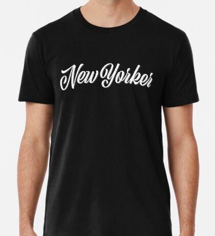 New Yorker Vintage Letter Premium T-Shirt