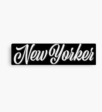 New Yorker Vintage Letter Canvas Print