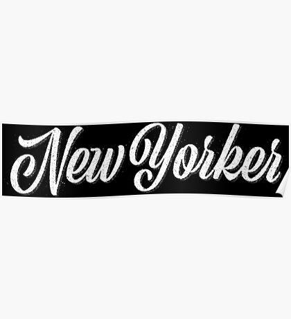 New Yorker Vintage Letter Poster