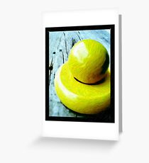 yellow wooden toys Greeting Card