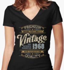 Birthday 50 Design: Vintage Fitted V-Neck T-Shirt
