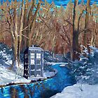 Frozen Blue Phone booth by NadiyaArt