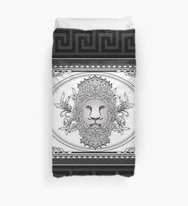 Lion Head with Greek Key Trim Duvet Cover