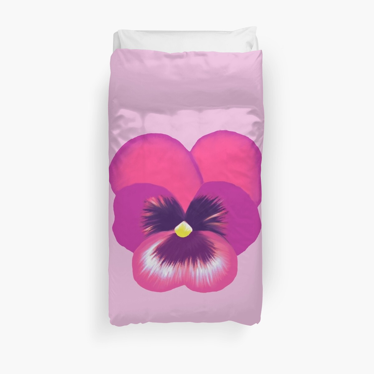 Single hot pink pansy flower duvet covers by emma fifield redbubble single hot pink pansy flower by emma fifield mightylinksfo