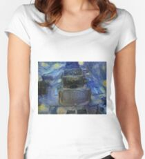 Still life, Натюрморт, Party, celebration , Jewish, synagogue, holiday, Haman, purimcostume, kidscostumes Women's Fitted Scoop T-Shirt