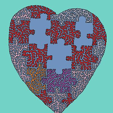 Funky Puzzle Heart by MaxwellAbstract