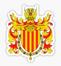 Coat of arms of Catalonia, Escudo de armas de cataluña, Coat of arms, arms, crest, blazon, cognizance, childrensfun, purim, costume Sticker