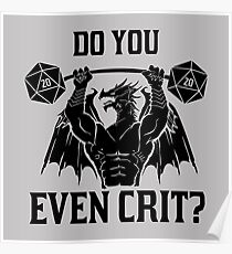 Do You Even Crit Poster