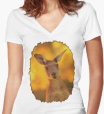Kangaroo - Western Australia Women's Fitted V-Neck T-Shirt