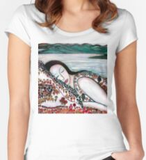 Mother Earth Goddess Women's Fitted Scoop T-Shirt