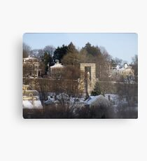 Roger Williams looks over the city of Providence Metal Print