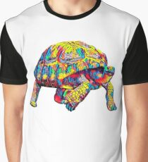 Giant Turtle T-Shirt Colorful Art Graphic T-Shirt