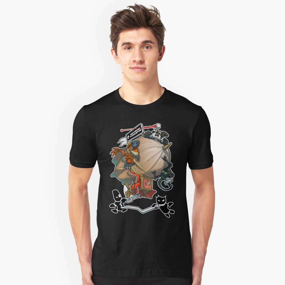 Smart Enough To Know Better Comedy Blimp Unisex T-Shirt Front
