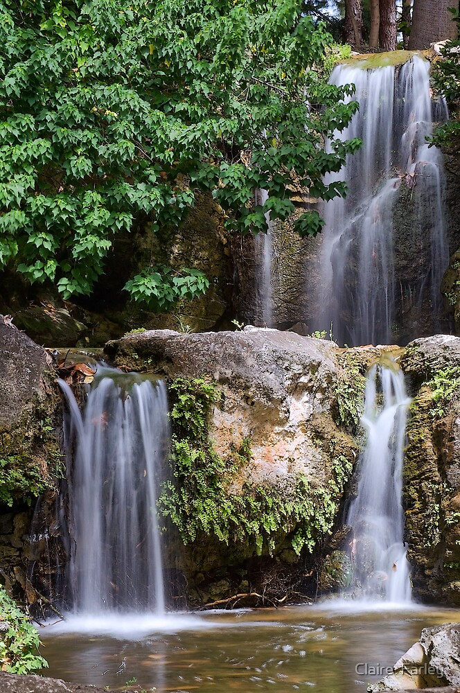 Triple Waterfall by Claire  Farley