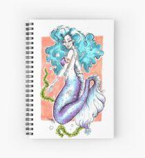 Blue haired Mermaid - Pastel tones Spiral Notebook