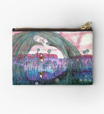 Girl in a Field of Blue Flowers- Drawing Studio Pouch