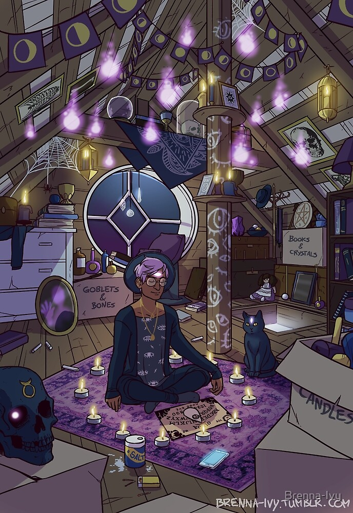 Quot Modern Male Witch Attic Quot By Brenna Ivy Redbubble