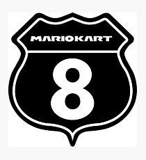 Mario Kart 8 Route logo  Photographic Print