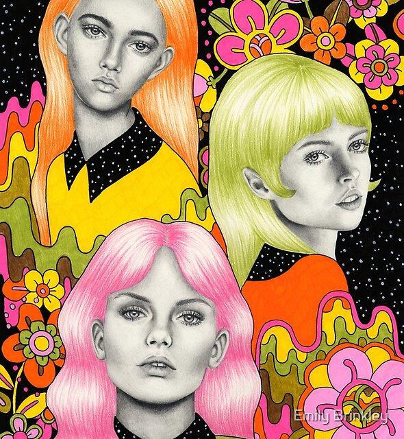 Psychedelische Babes von Emily Brinkley