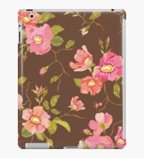 Roses Background in Retro Style iPad Case/Skin