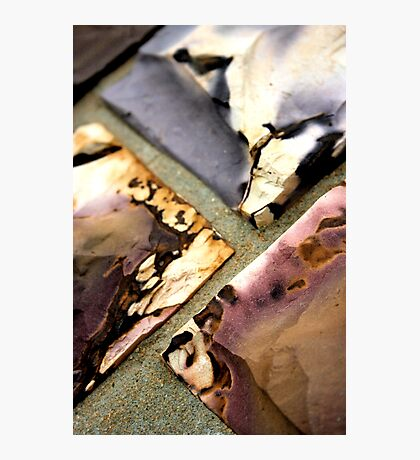 Coloured stone Photographic Print