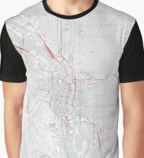Portland City Map Graphic T-Shirt