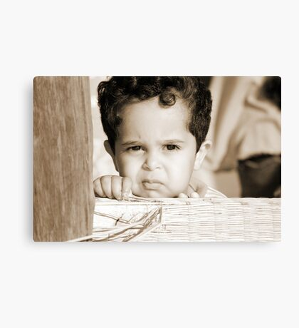 In his little world... Canvas Print