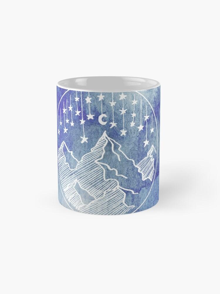 Alternative Ansicht von Watercolor Mountains and Stars  Tassen