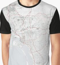 San Diego City Map Graphic T-Shirt