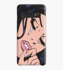 Black Hair Crying  Case/Skin for Samsung Galaxy