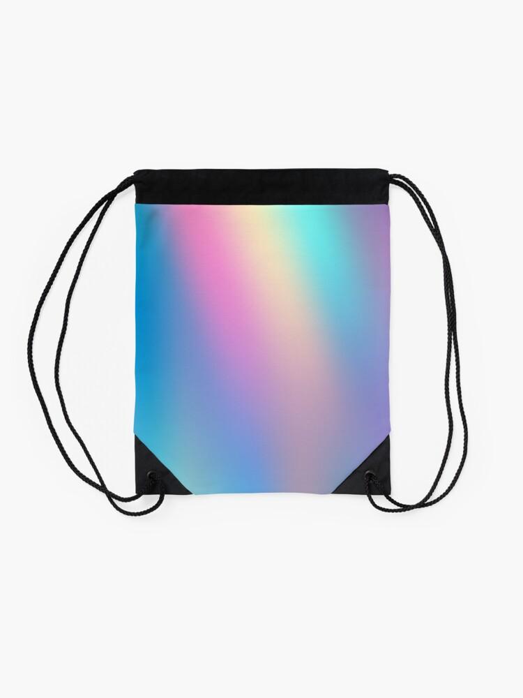 Alternate view of Holographic Pattern Drawstring Bag