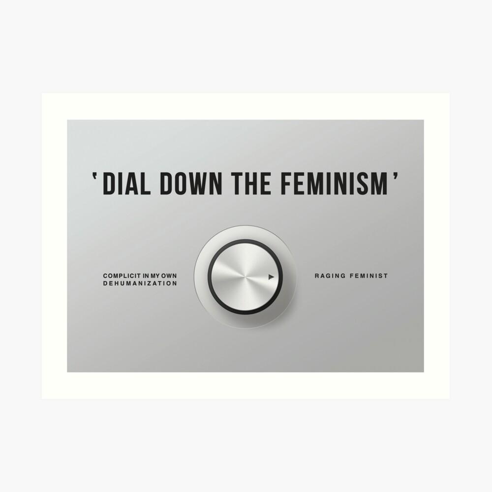 Wählen Sie den Feminismus (Amerikanisches Englisch) Kunstdruck