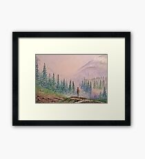 Among the misty mountains Framed Print